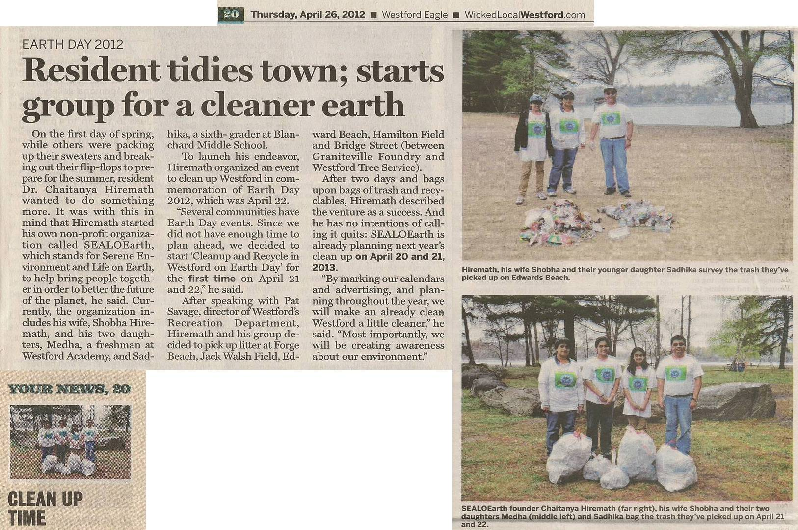 NewsPaper_WestfordEagle_EarthDay_Apr26_2012